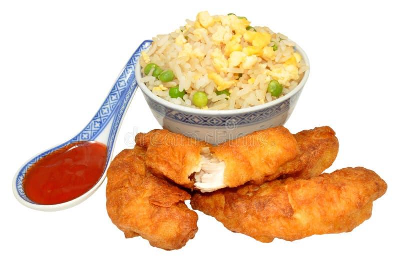 Cukierki I podśmietanie chińczyk Powyginany kurczak obraz stock