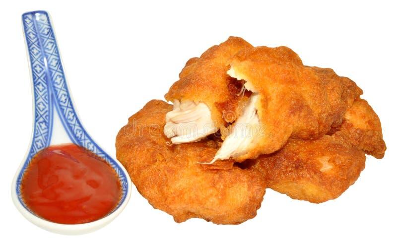 Cukierki I podśmietanie chińczyk Powyginany kurczak obrazy stock