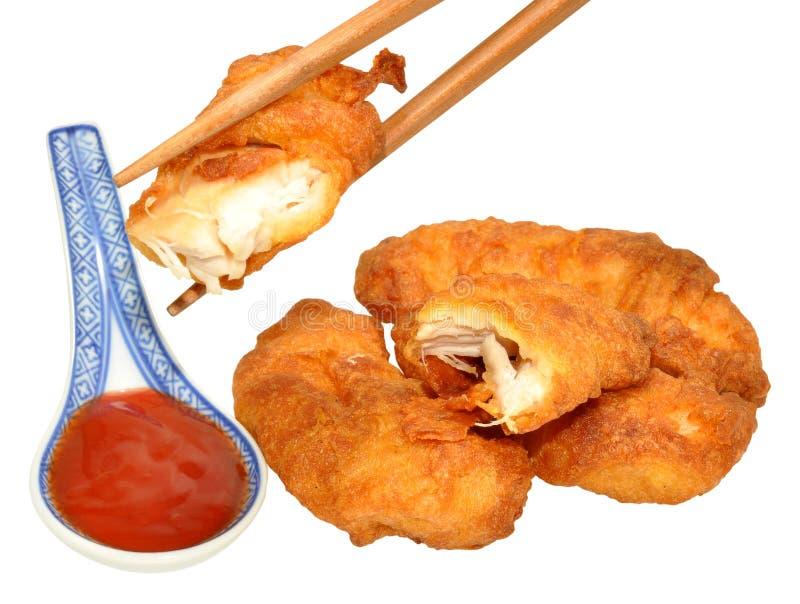 Cukierki I podśmietanie chińczyk Powyginany kurczak zdjęcia stock
