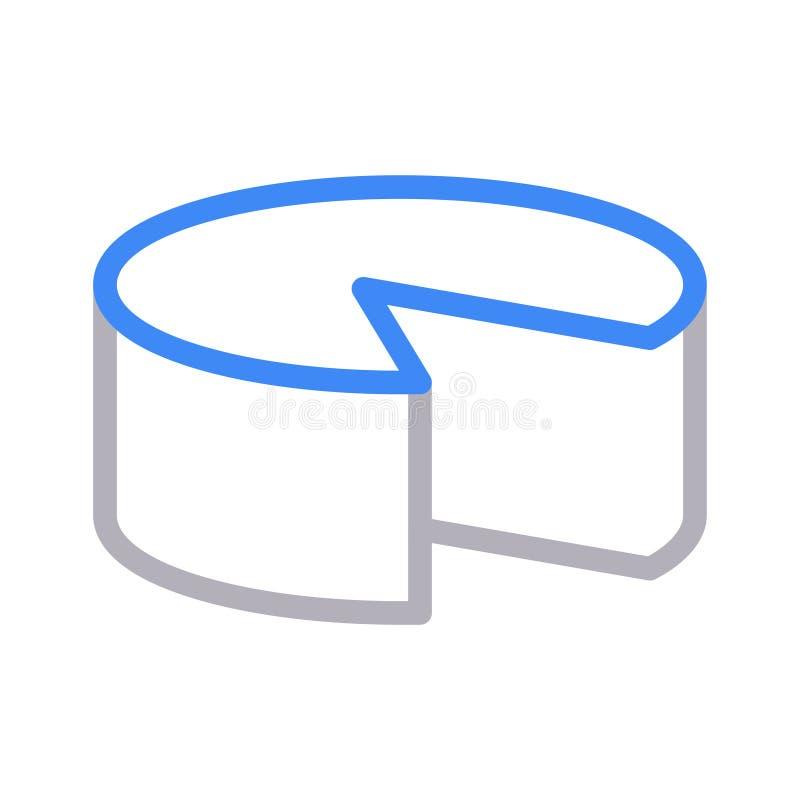 Cukierki koloru linii wektoru cienka ikona ilustracja wektor
