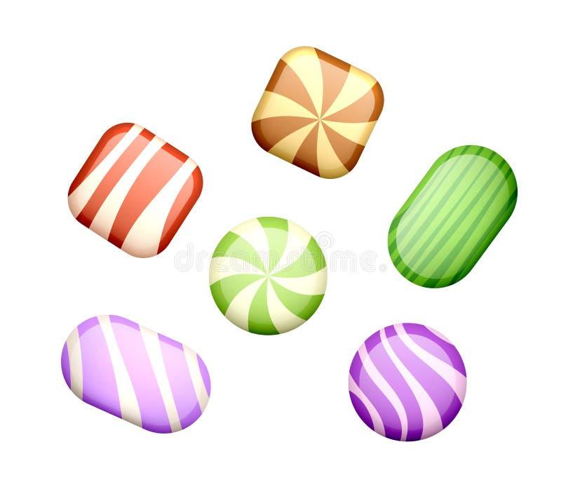 Cukierki na bielu ilustracja wektor