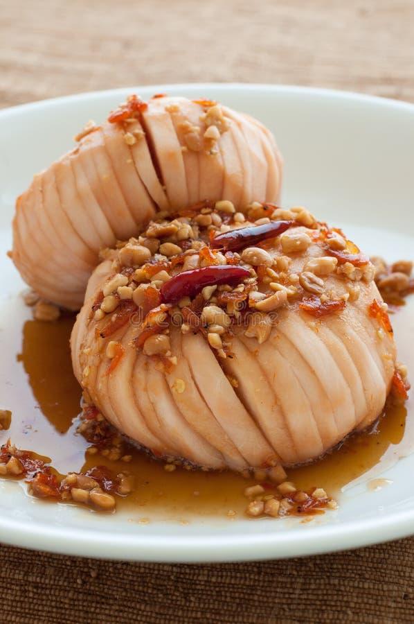 Cukierki Santol Kwaśne Korzenne owoc. Jeden tajlandzki deser. zdjęcie stock