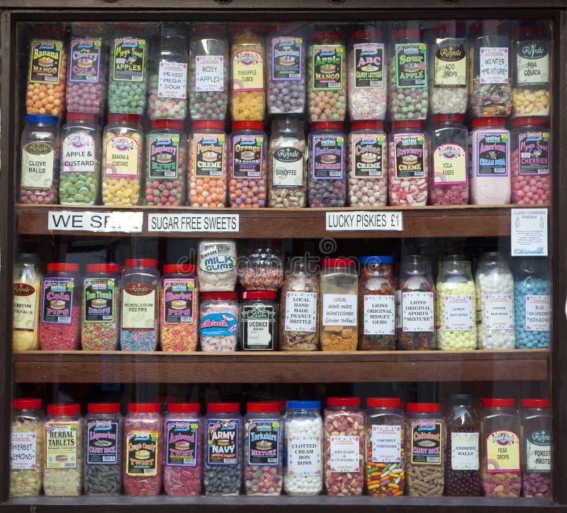 Cukierki sklepu pokaz obraz stock