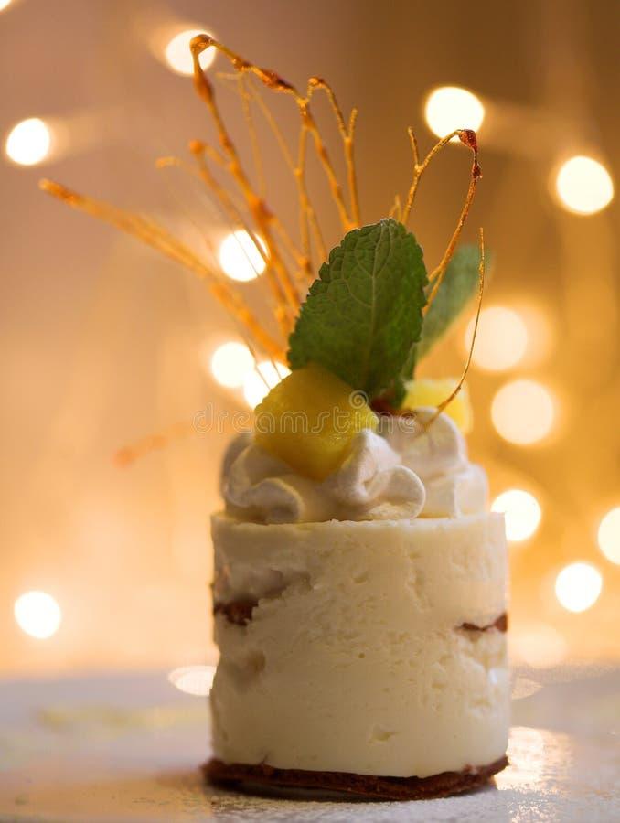 Cukierki tort, zamyka up obrazy stock