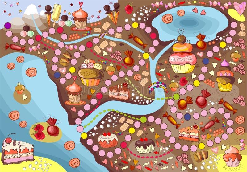 Cukierki ziemia ilustracja wektor