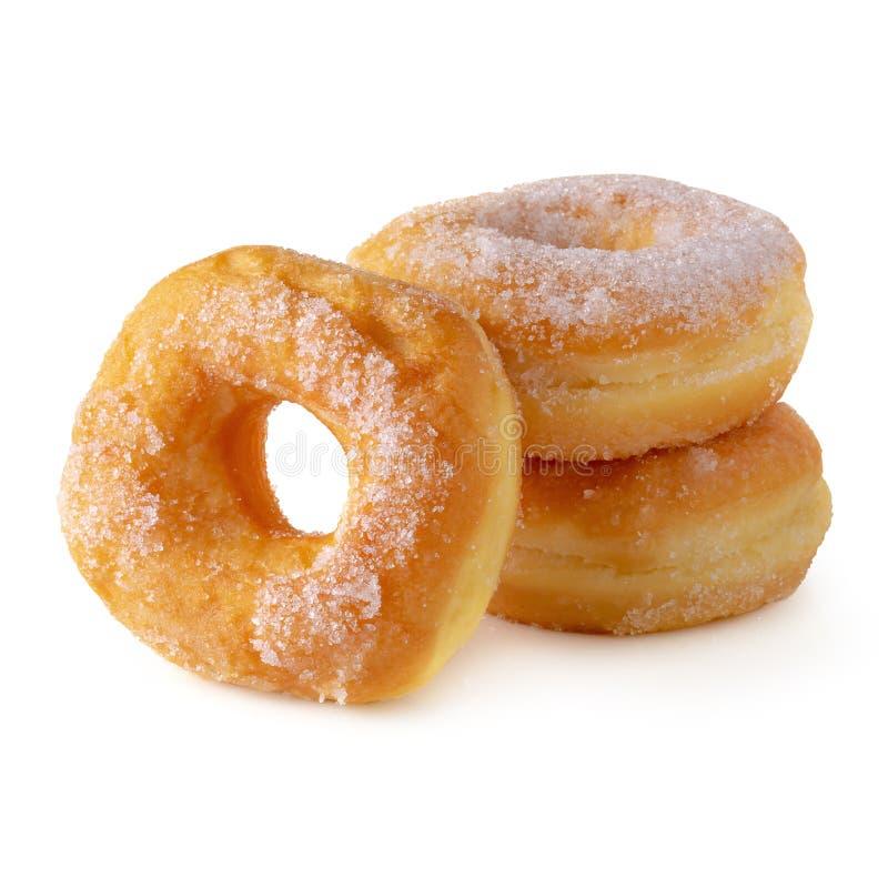 Cukierkowi donuts odizolowywający nad białym tłem obraz stock