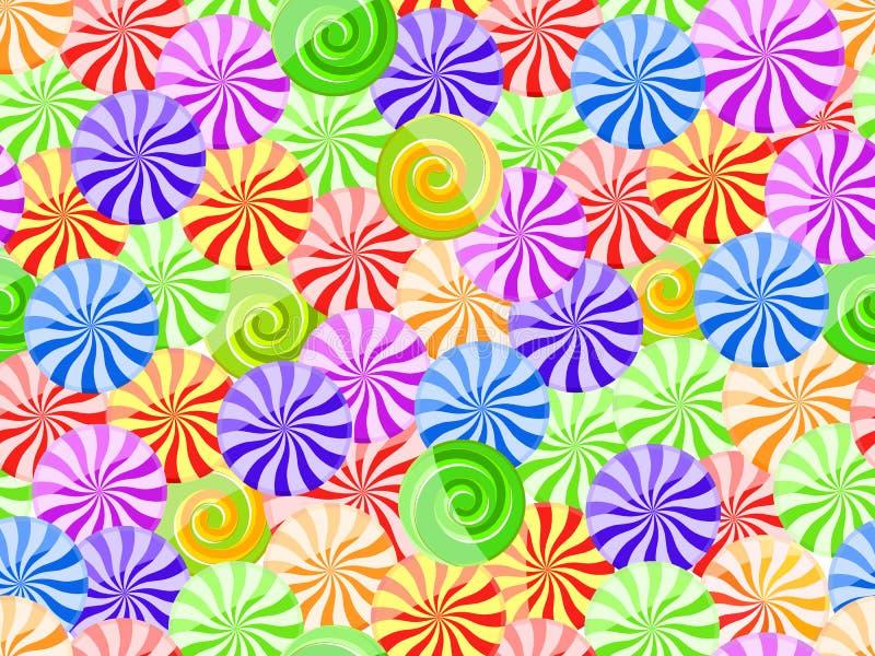 cukierku żywy deseniowy bezszwowy pasiasty ilustracja wektor