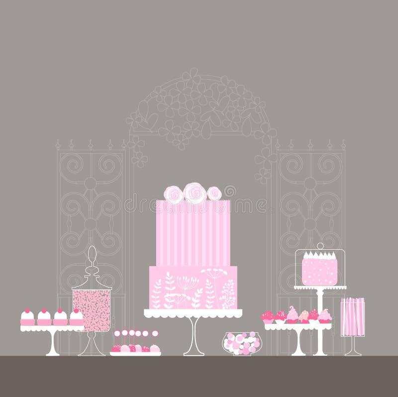 Cukierku bufet ilustracja wektor