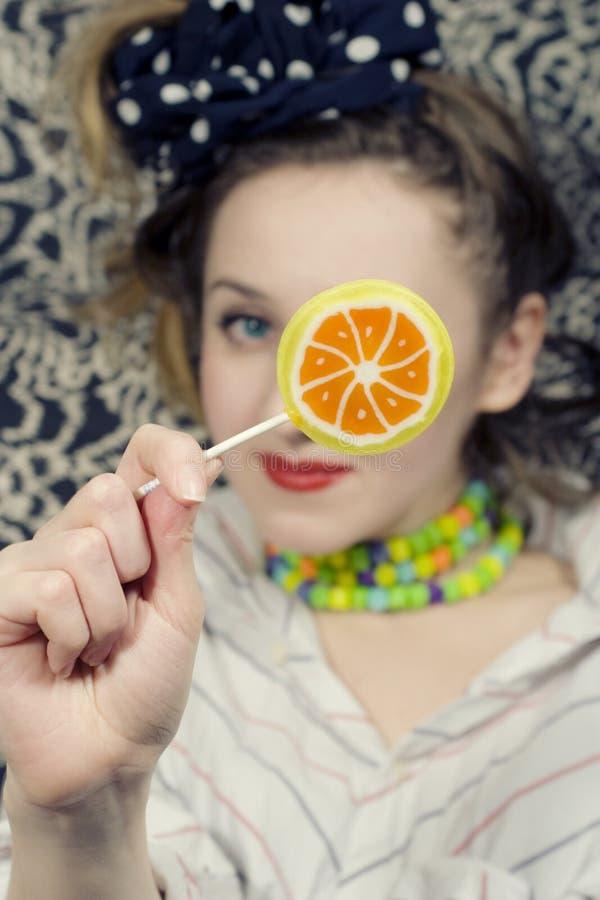 cukierku cukrowi kobiety potomstwa obrazy royalty free