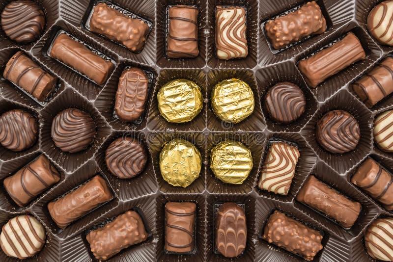 Cukierku czekoladowy Pudełko obrazy stock