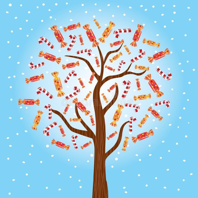 Cukierku drzewo royalty ilustracja