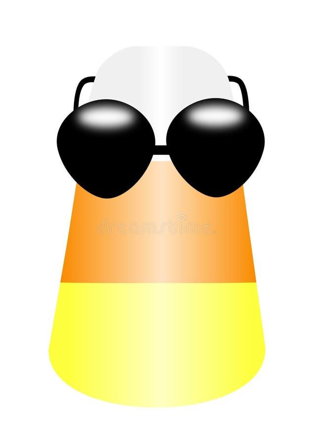 cukierku kukurudzy okularów przeciwsłoneczne target1603_0_ royalty ilustracja