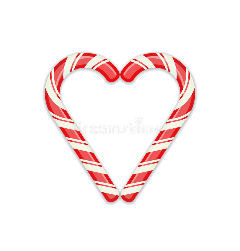 Cukierku trzciny serca symbol royalty ilustracja