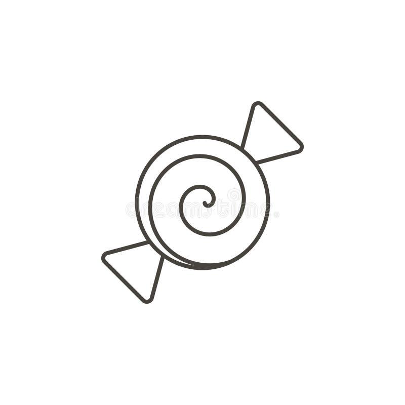 Cukierku wektoru ikona Prosta element ilustracja od Karmowego poj?cia Cukierku wektoru ikona Napoju poj?cia wektoru ilustracja ilustracji