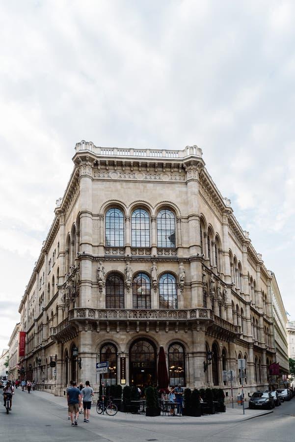 Cukierniana centrala w dziejowym centrum miasta Wiedeń zdjęcie royalty free