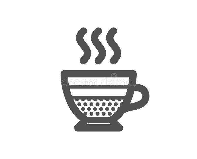 Cukierniana creme ikona Gorący napoju znak wektor ilustracji
