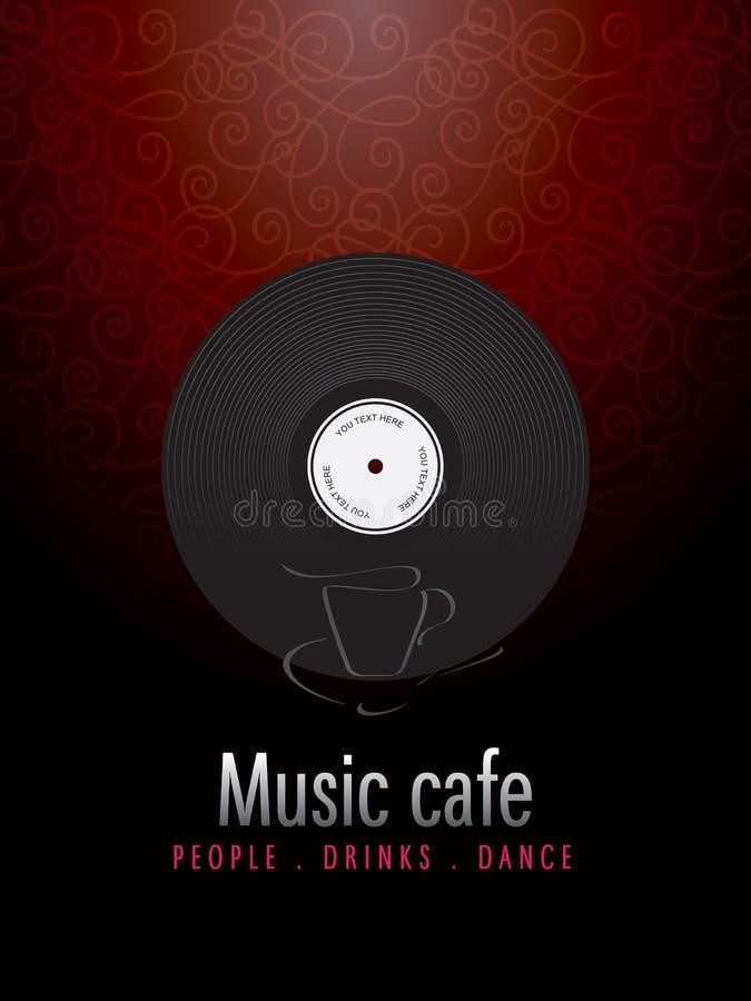 cukierniana projekta menu muzyka royalty ilustracja