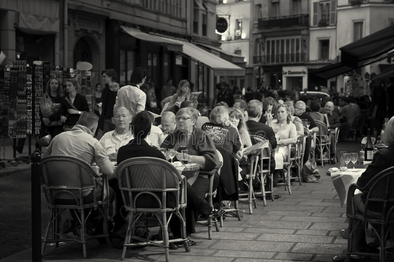 cukierniany życie plenerowy Paris obrazy stock