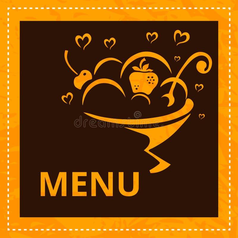 Cukierniany menu Karcianego projekta szablon ilustracji