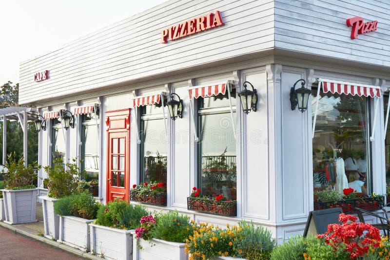 Cukierniany pizzeria fotografia stock