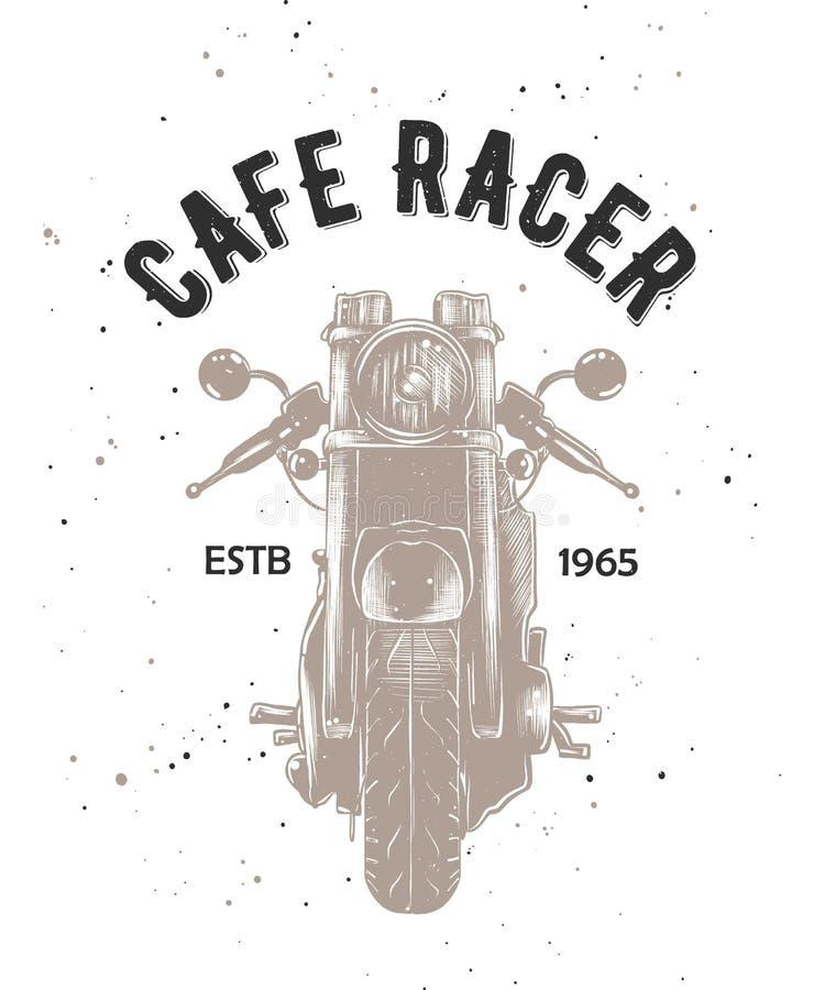 Cukierniany setkarz z grawerującym nakreśleniem motorcyrcle ilustracji