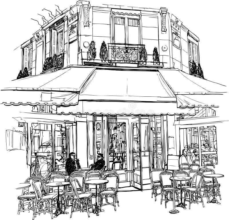 cukierniany stary Paris ilustracji