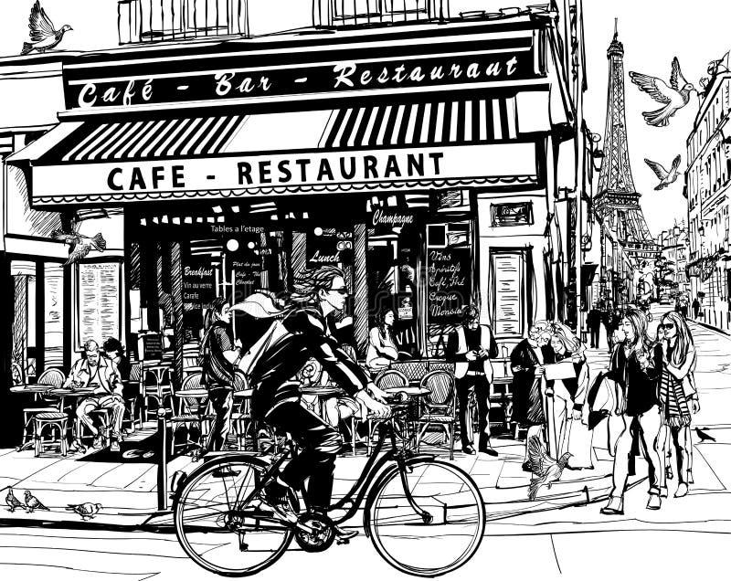 cukierniany stary Paris royalty ilustracja