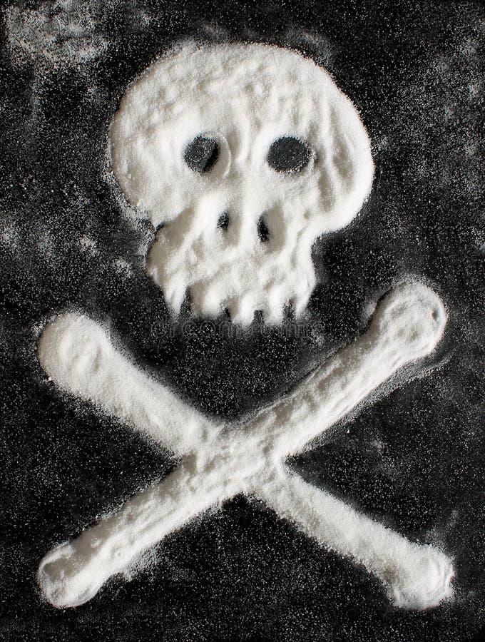 Cukrowa czaszka i crossbones obraz royalty free