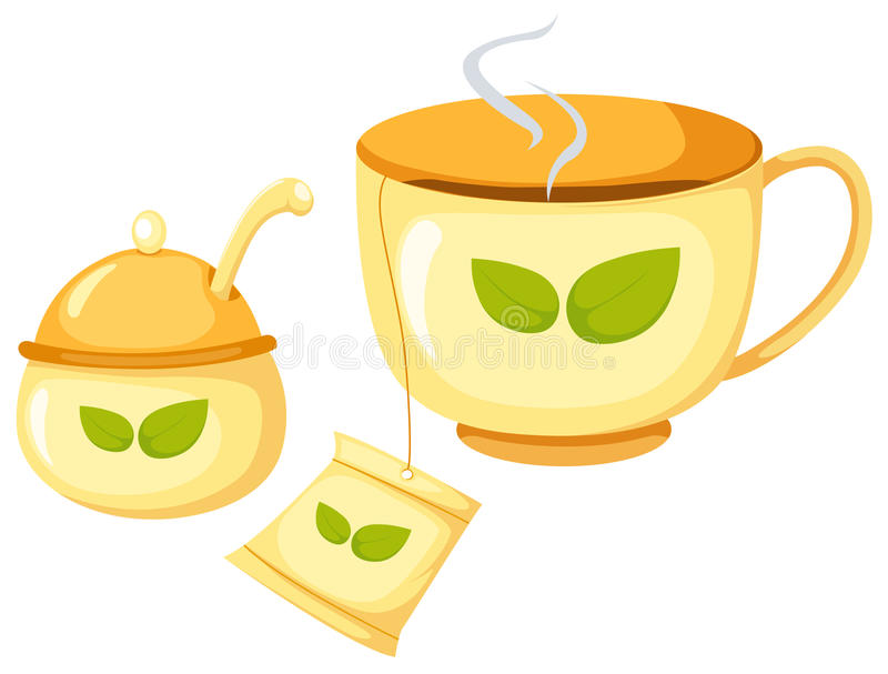 cukrowa filiżanki herbata royalty ilustracja