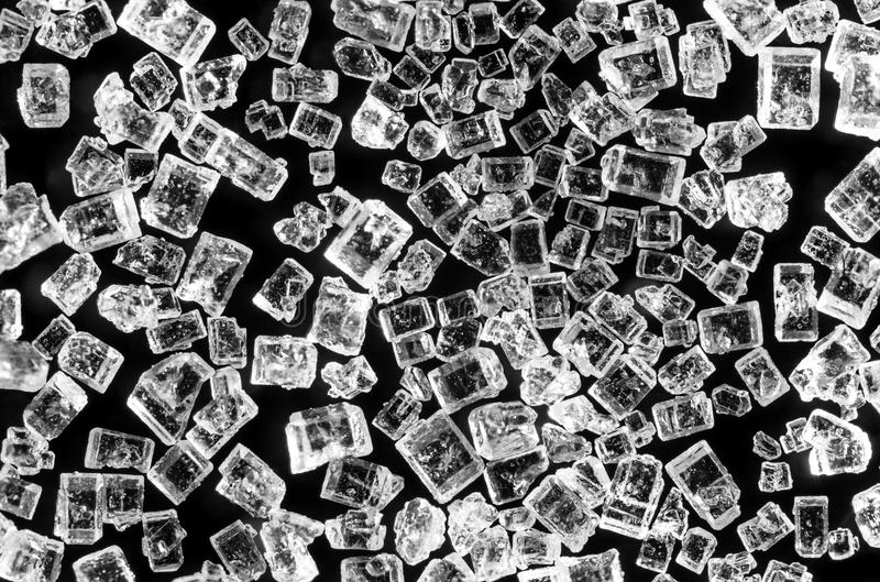 Cukrowi kryształy fotografia stock