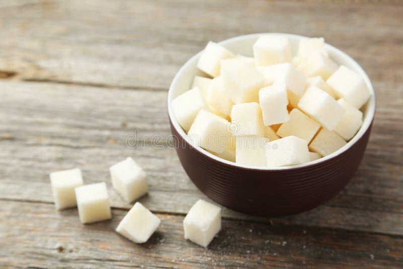 Cukrowi sześciany fotografia stock