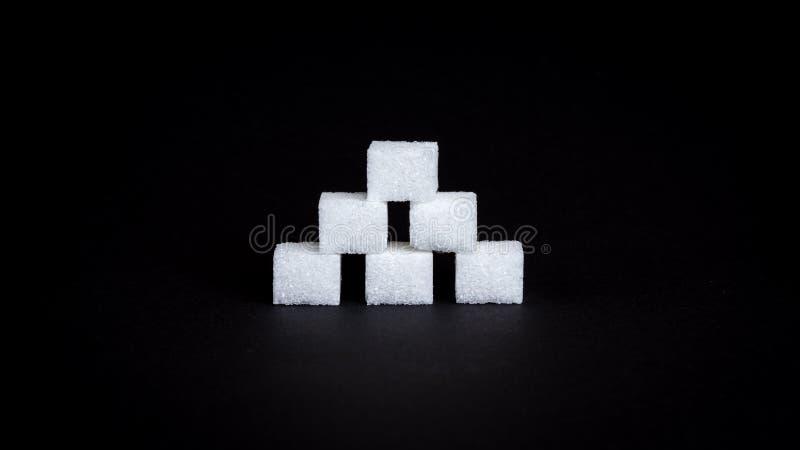 Cukrowi sześciany zdjęcie stock