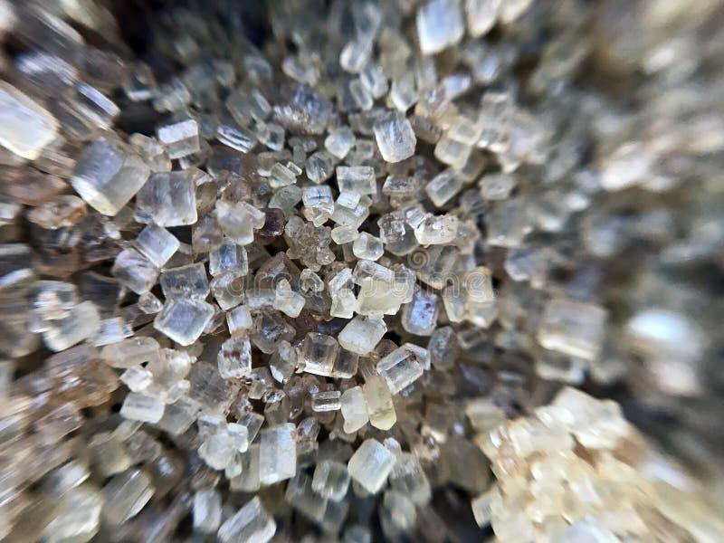 Cukrowych zbliżenie kryształów słodki łasowanie zdjęcia royalty free