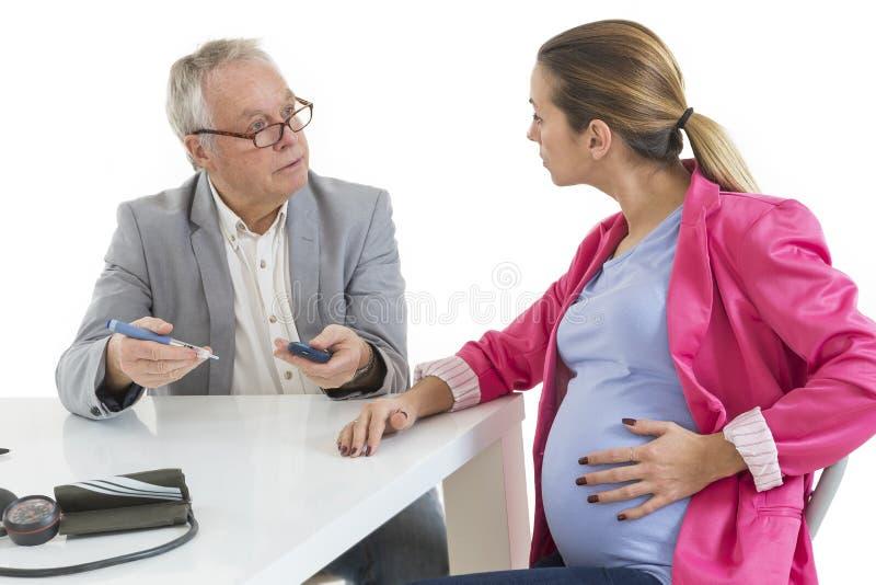 Cukrzyce Konsultują kobieta w ciąży obraz royalty free
