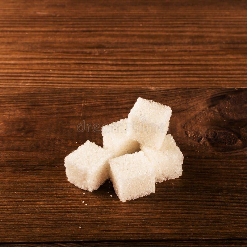 Cukrzyce są okropnym chorobą Mnóstwo cukrowi sześciany obraz stock