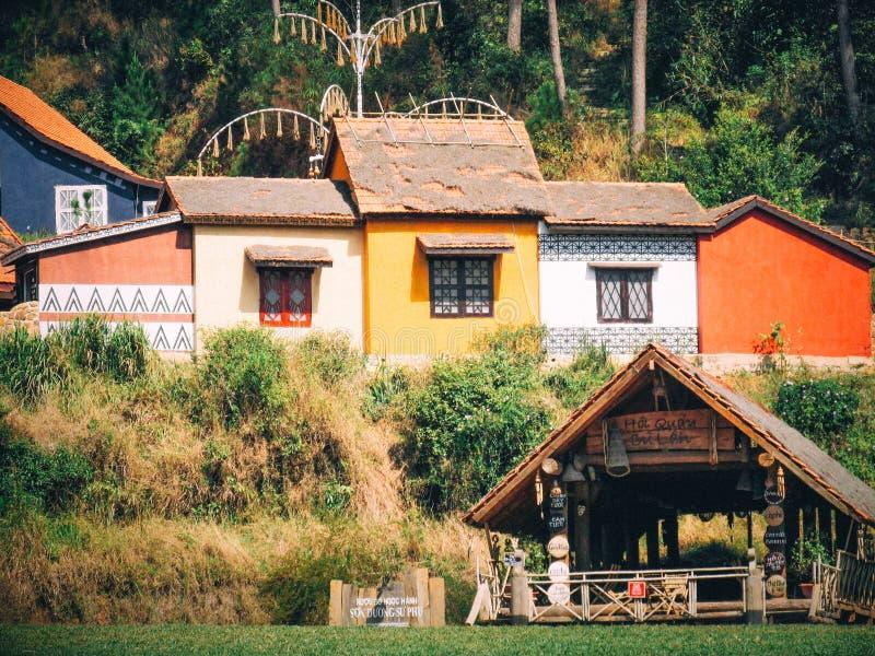 CuLan Vilage -大叻-越南 免版税图库摄影