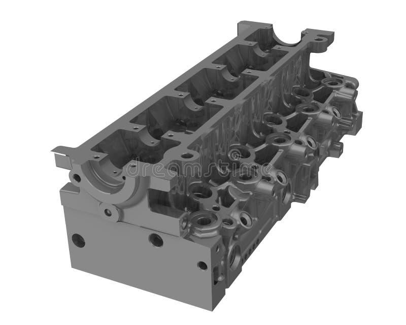 Culasse d'un moteur à combustion interne illustration de vecteur