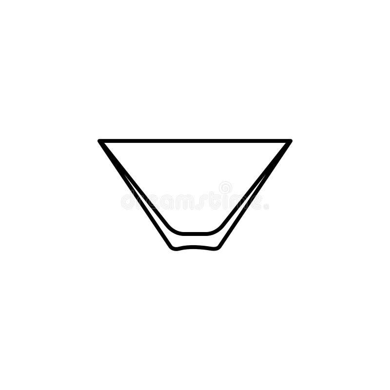 Culbuteur de Martini, icône en verre Peut être employé pour le Web, logo, l'appli mobile, UI, UX illustration libre de droits