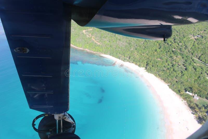 Culebra в испанских Виргинских островах от воздуха стоковая фотография rf