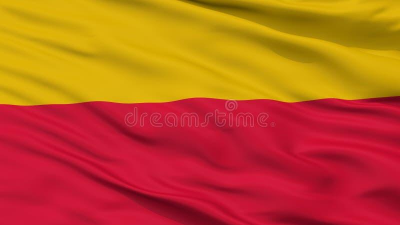 Culemborg-Stadt-Flagge, die Niederlande, Nahaufnahme-Ansicht stockfotos