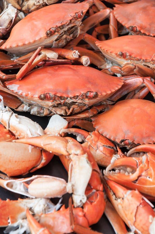 Culinária cozinhada de Ásia dos caranguejos fotografia de stock
