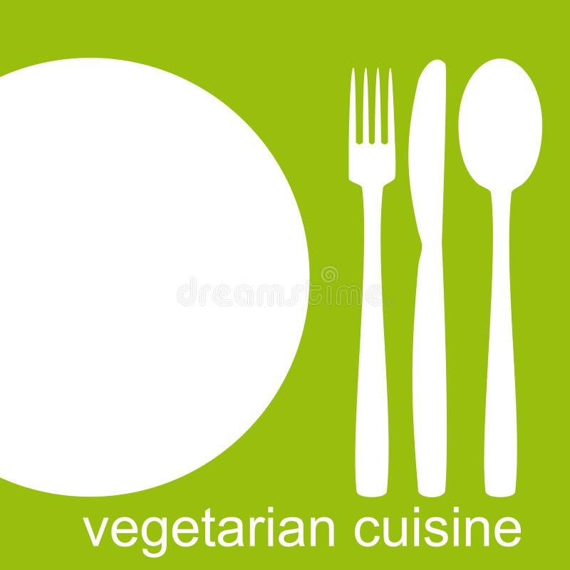 Culinária do vegetariano ilustração stock