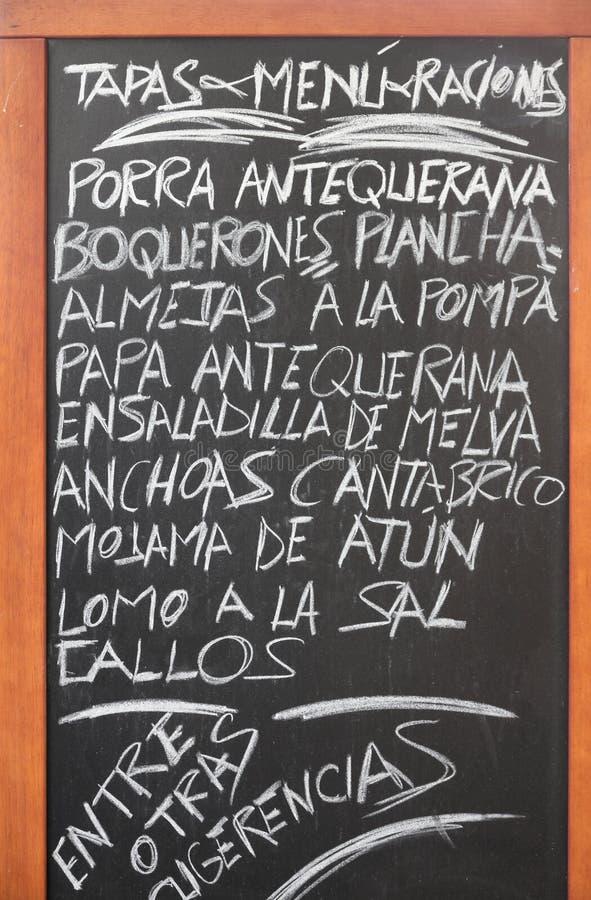 Culinária espanhola imagens de stock