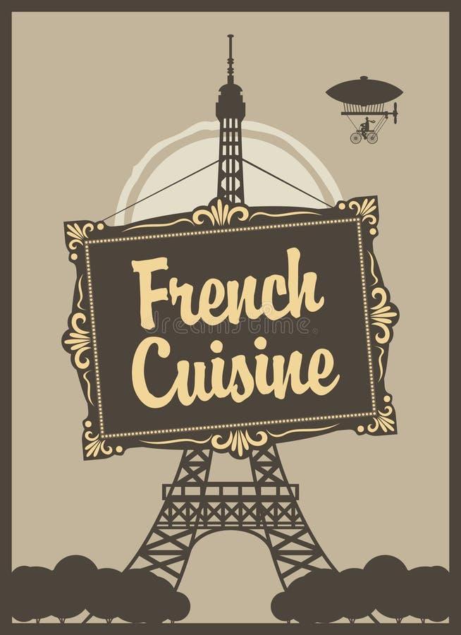 Culinária francesa ilustração do vetor