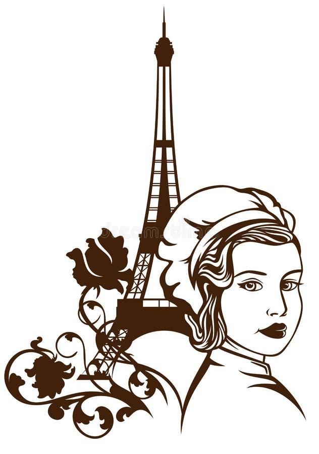 Culinária francesa ilustração stock