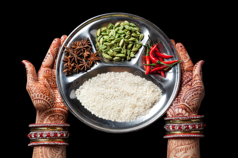 Culinária indiana foto de stock royalty free
