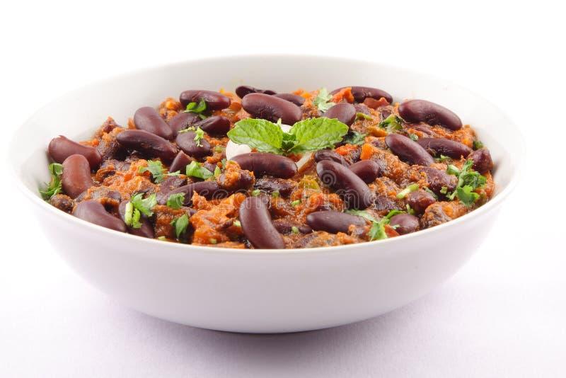 Culinária indiana Rajma ou caril do feijão-roxo fotografia de stock royalty free