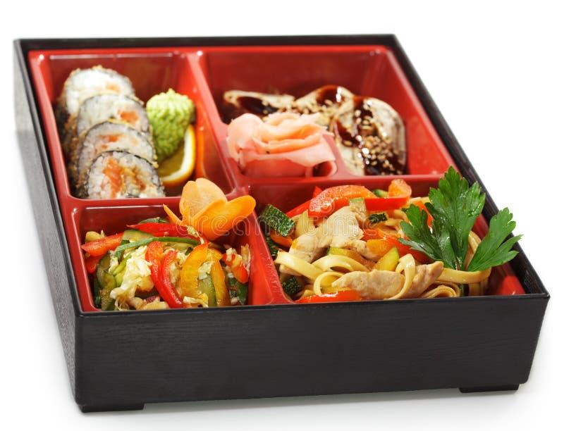 Culinária japonesa - almoço de Bento imagem de stock