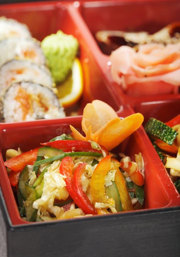 Culinária japonesa - almoço de Bento imagens de stock