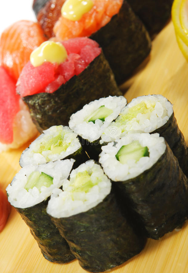 Culinária japonesa - jogo do sushi fotos de stock
